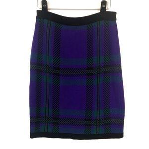 Vintage Evan Picone Plaid Knit Pencil Skirt